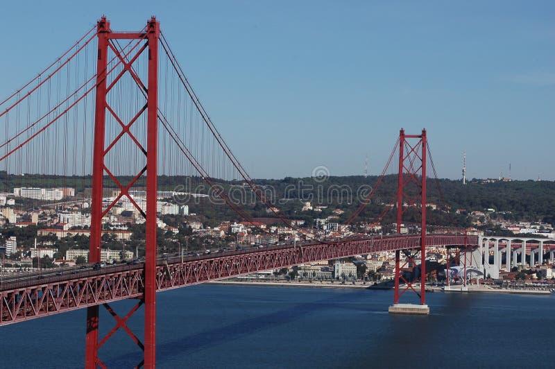 25th April Bridge, Lisbon royalty free stock photography