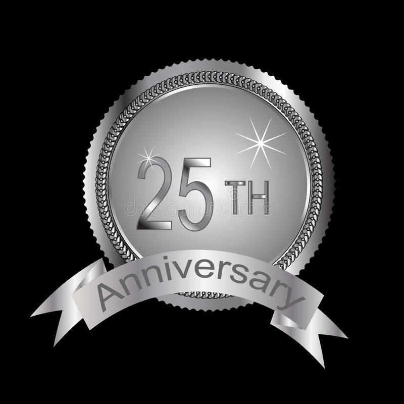 Download 25th or silver anniversary stock vector. Illustration of 25th - 14640968