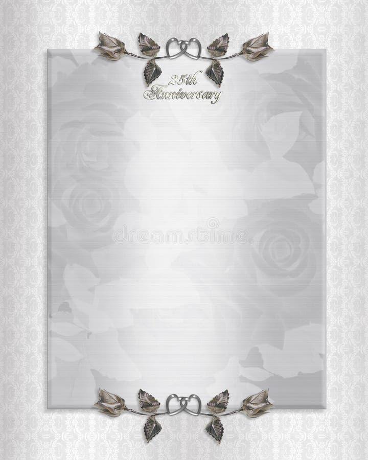 25th silver Anniversary Invitation stock photo