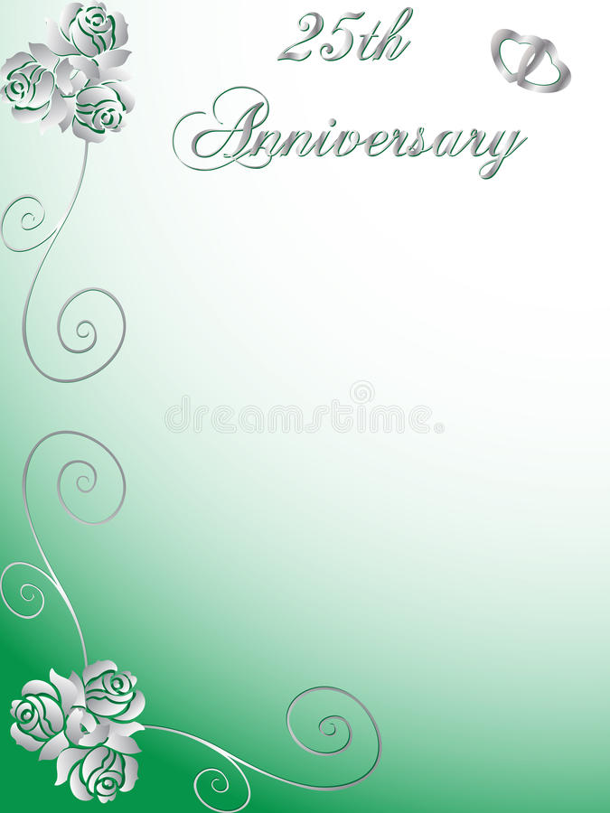 Download 25th wedding anniversary stock vector. Illustration of years - 11677400