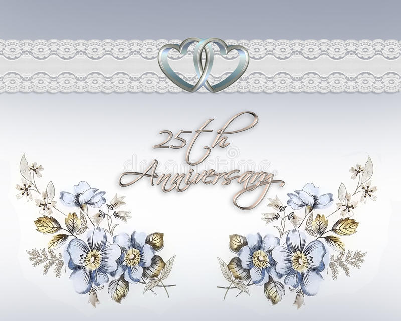25th wedding anniversary royalty free stock photo