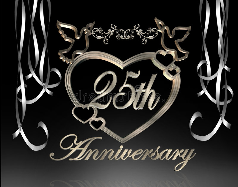 Download 25th Wedding Anniversary stock illustration. Image of 25th - 4037755