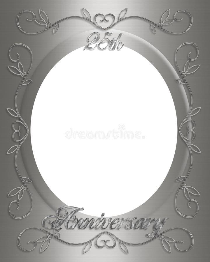25th Wedding Anniversary Frame Stock Illustration - Illustration of ...