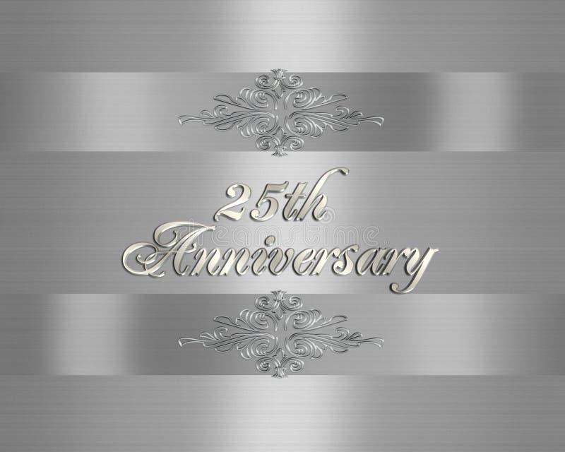 25th Wedding Anniversary invitation royalty free illustration