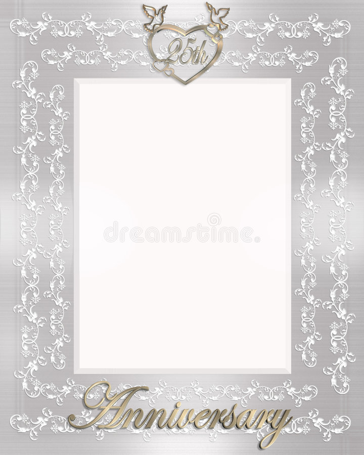 Download 25th Wedding Anniversary Invitation Stock Illustration - Illustration: 4039350