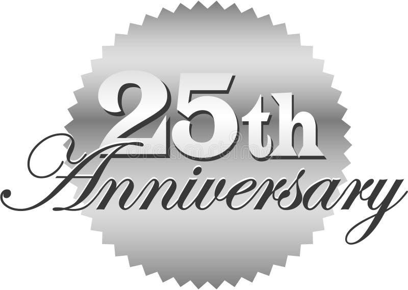 25to Sello/EPS del aniversario stock de ilustración