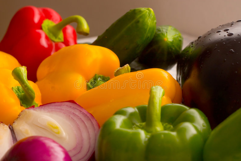 新鲜的ii蔬菜 库存照片