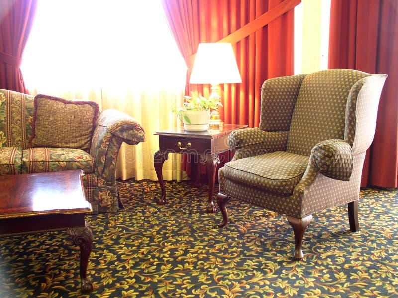 旅馆大厅 免版税库存照片