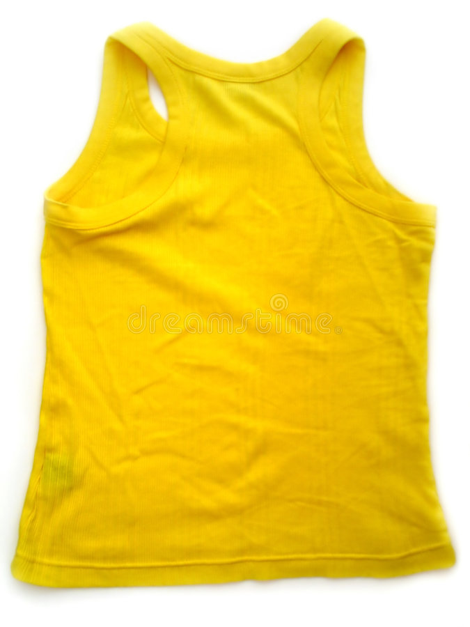 无袖衫黄色 免版税图库摄影