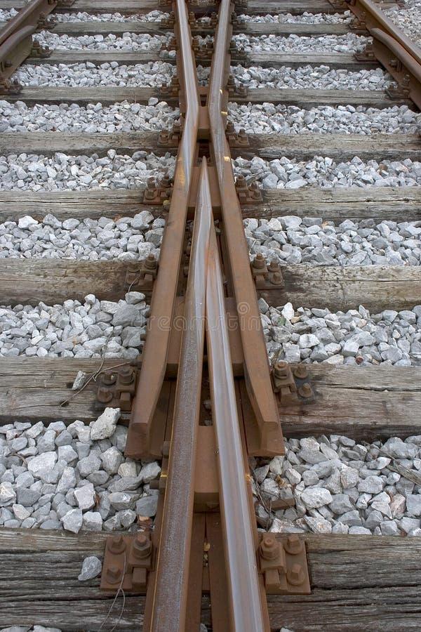 更改的铁轨 免版税图库摄影