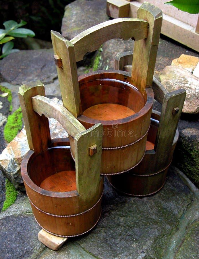 木的罐 免版税库存图片