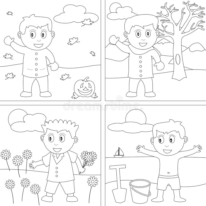 27 малышей расцветки книги иллюстрация штока