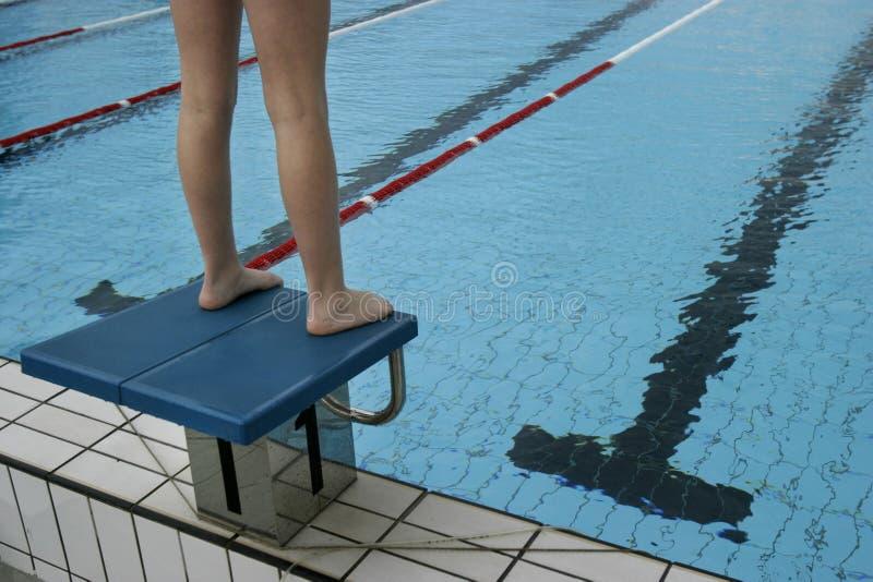 27 basenów dopłynięcie fotografia royalty free