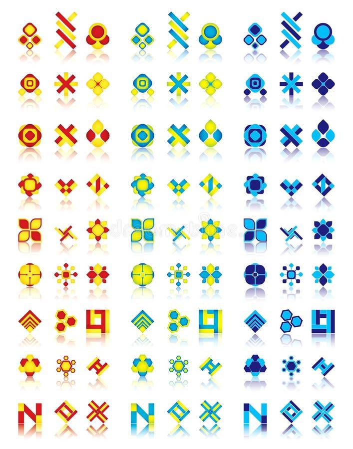 27 conceptions de logo illustration stock