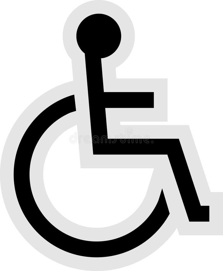 残疾图标 皇族释放例证
