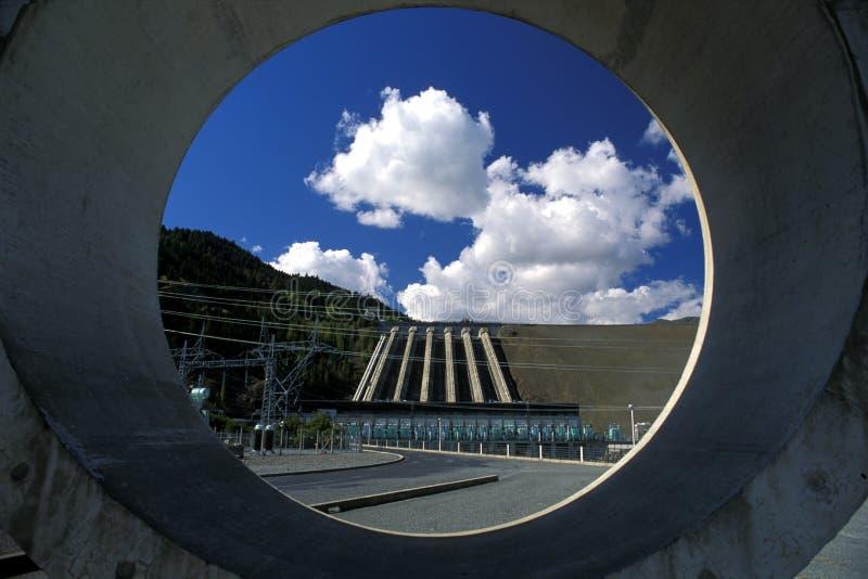 水坝水力发电新西兰 库存图片
