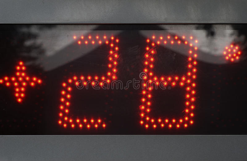 28 βαθμοί συν στοκ φωτογραφία με δικαίωμα ελεύθερης χρήσης
