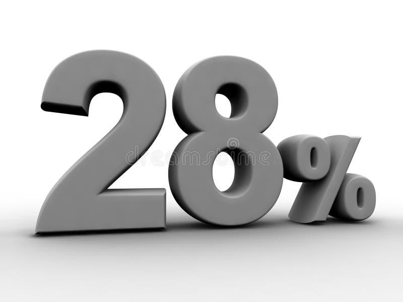 28 per cento illustrazione di stock