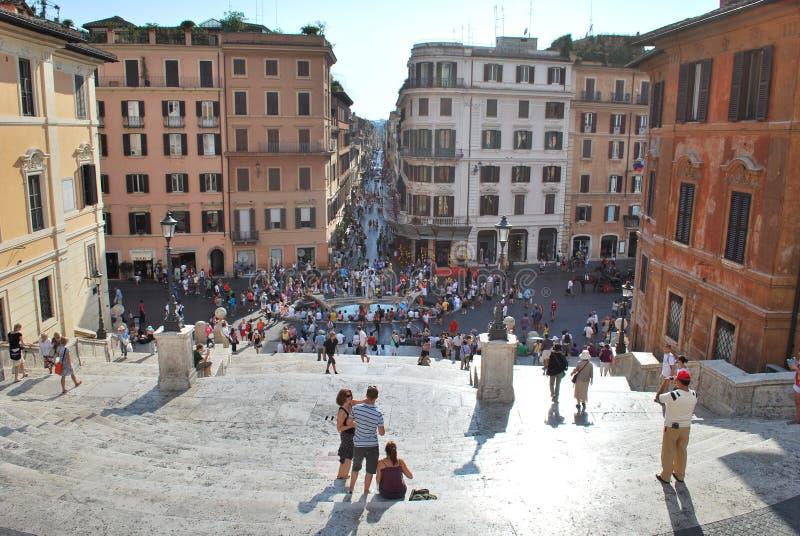 29 2009 августовских шагов испанского языка Италии rome стоковая фотография