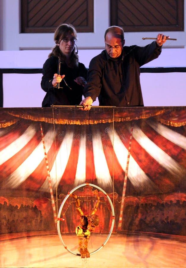 29 drewnianych cyrkowych Bahrain 2012 karromato Czerwiec fotografia royalty free
