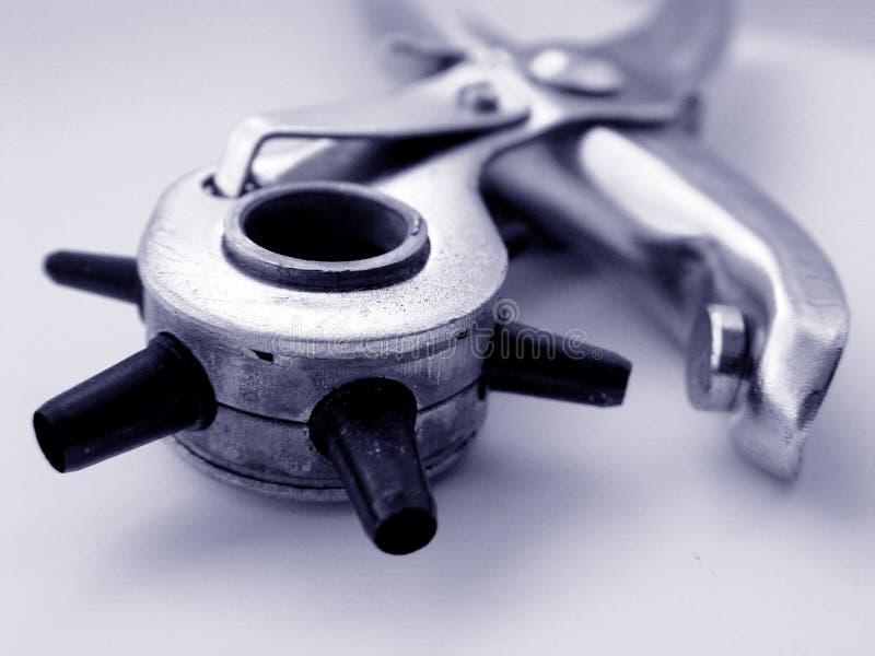 特写镜头小孔工具 免版税库存图片