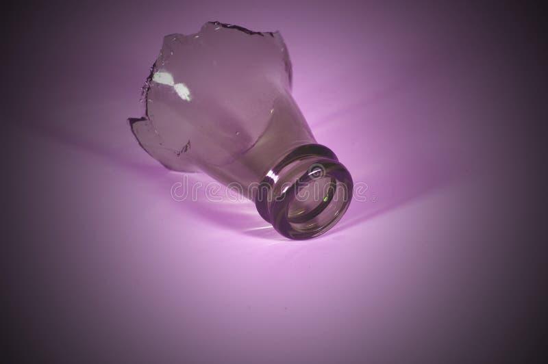 瓶紫色顶层 免版税库存图片
