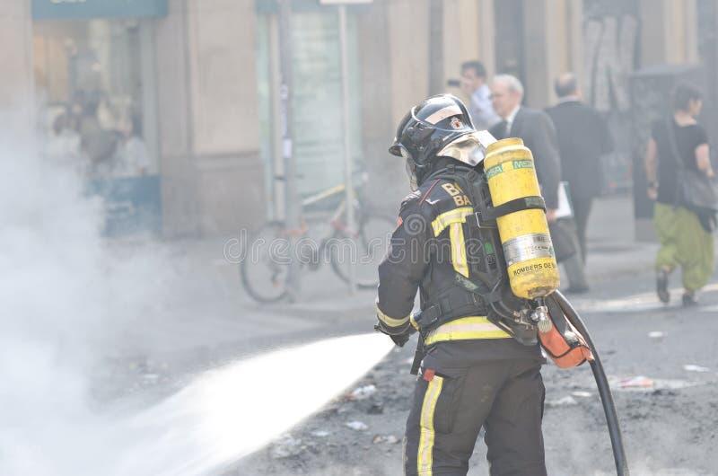 Download 29M - Barcelona burning editorial photo. Image of crisis - 24074731