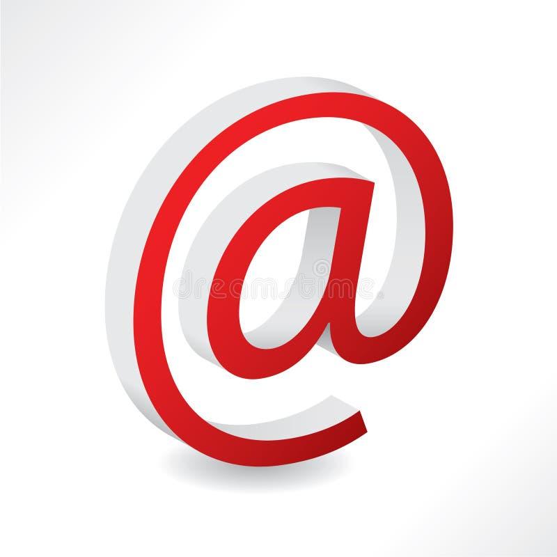 2d электронная почта псевдонима иллюстрация вектора