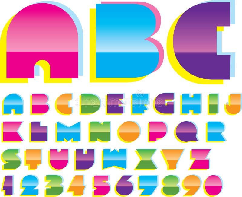 2d alfabet royalty-vrije illustratie