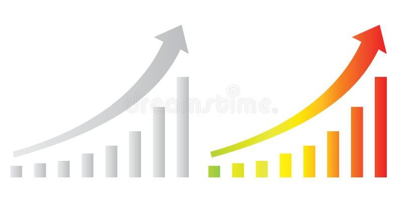 2D diagramma - colore ed acromatic fotografia stock