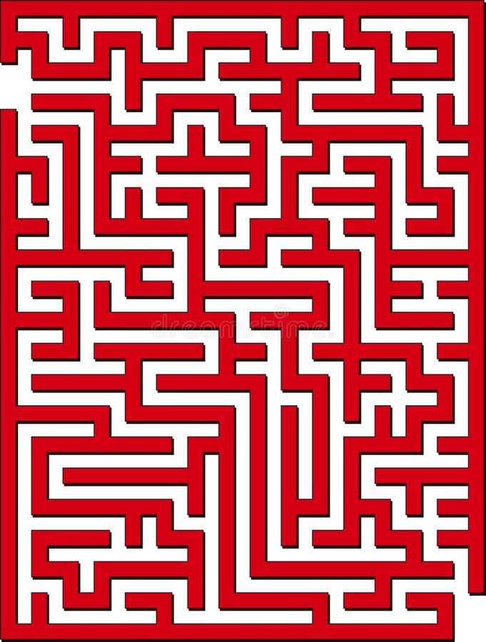 2D labirinto illustrazione vettoriale