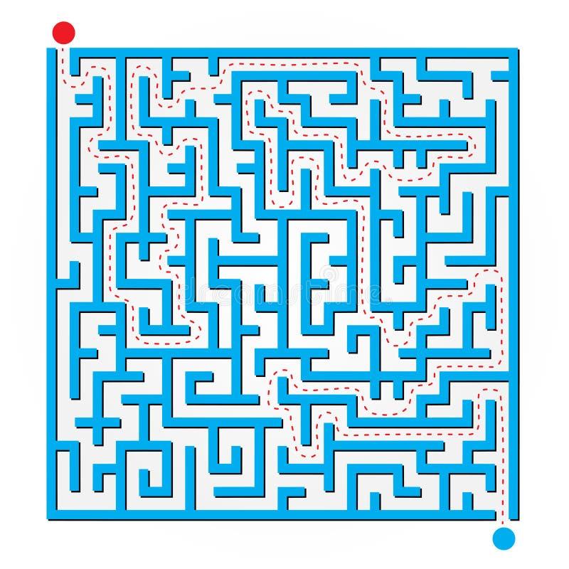 2D Labyrinth lizenzfreie abbildung