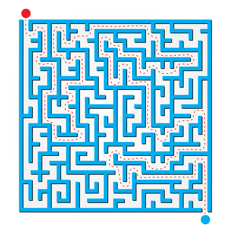 2D Labyrinthe illustration libre de droits