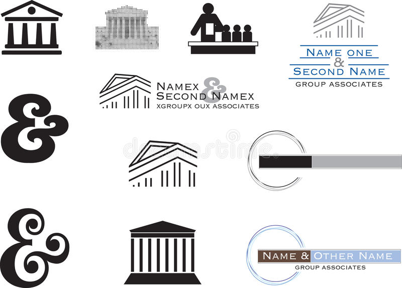 2d logo lawyer. A set of logos for lawyers design