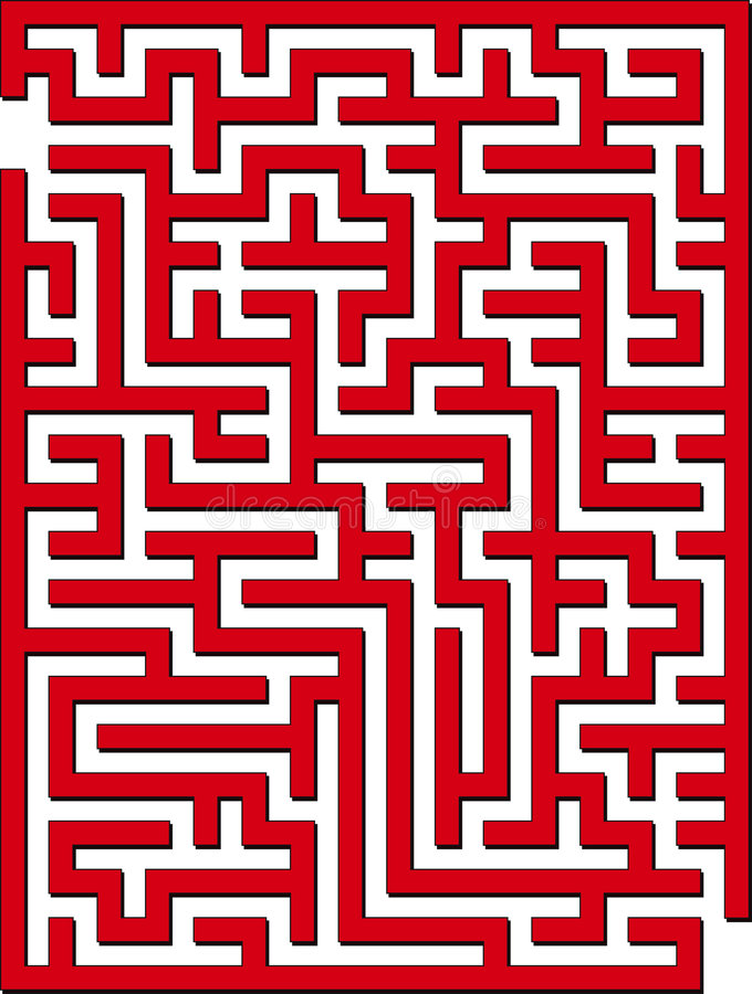 2D maze vector illustration