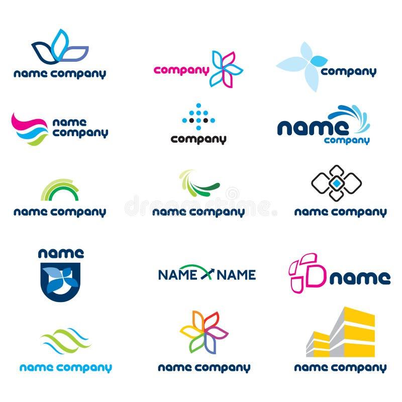 2d positionnement de graphisme de logo illustration stock
