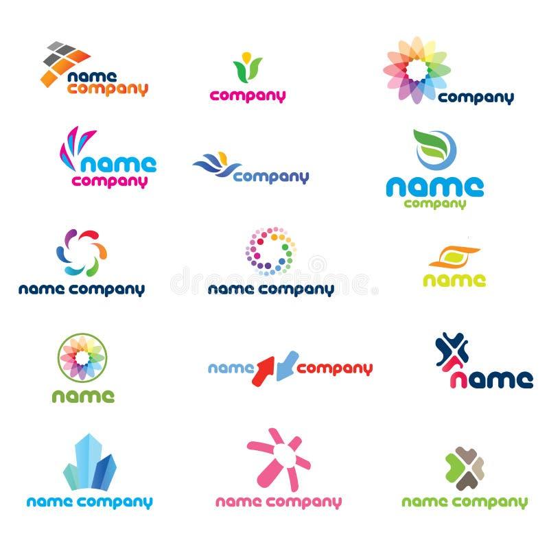 2d positionnement de graphisme de logo illustration libre de droits