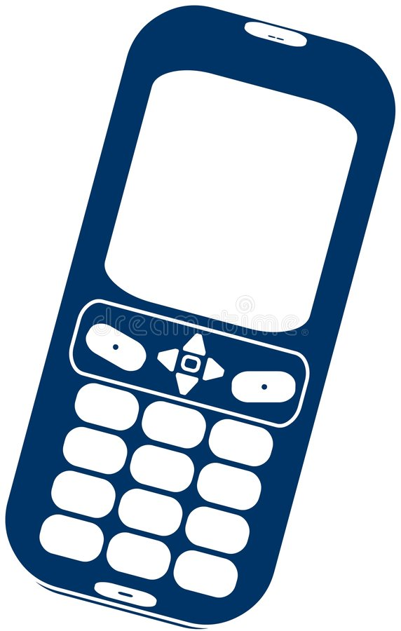 2D telefone de pilha. ilustração royalty free