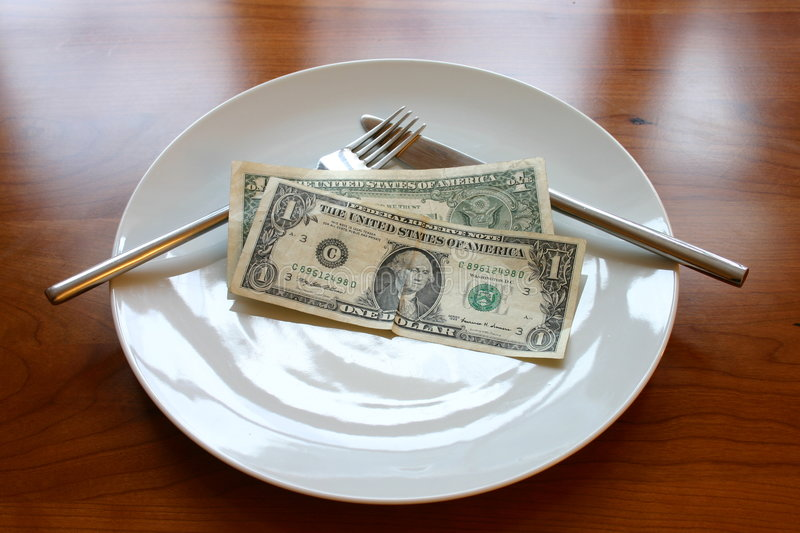 Download 2dollar lunch stock image. Image of note, fork, concept - 117333