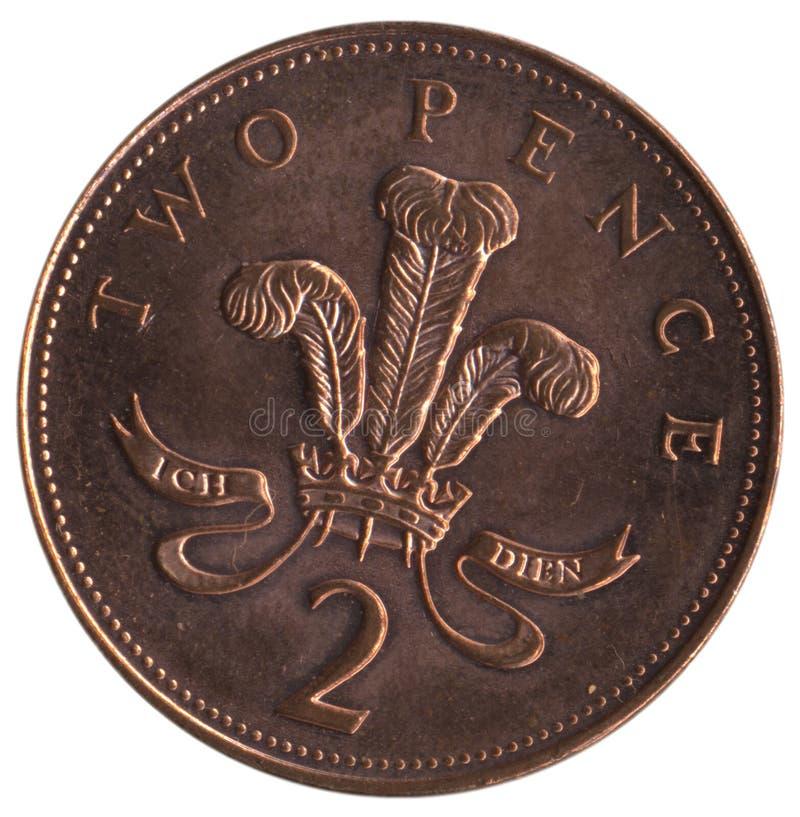 Download 2p βρετανικό κομμάτι στοκ εικόνα. εικόνα από νόμισμα, αγγλία - 120053