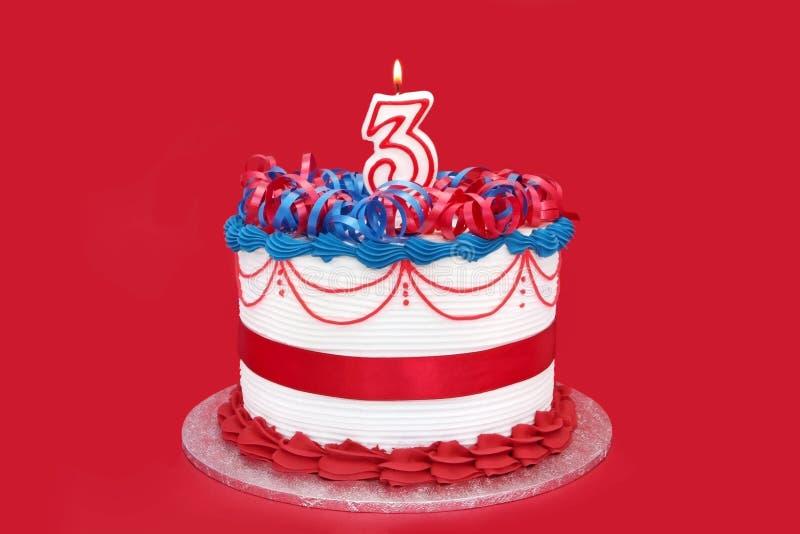 3ème Gâteau image stock