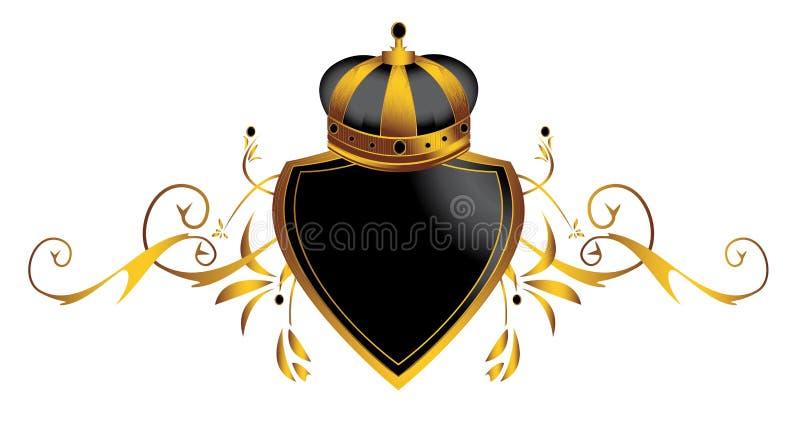 3个冠金子图象 向量例证