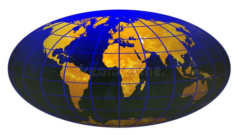 3个地球JPG数据条世界 向量例证