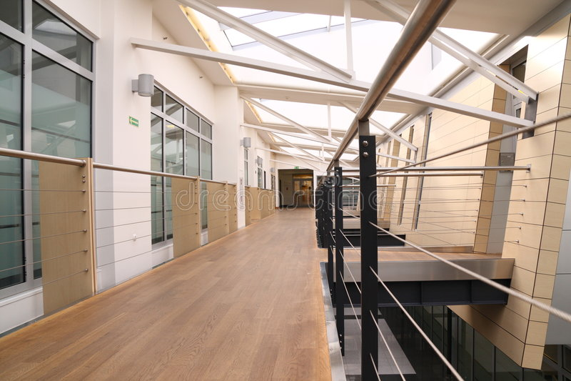 3个大厅现代办公室 库存照片