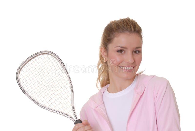 3个女孩网球 库存照片