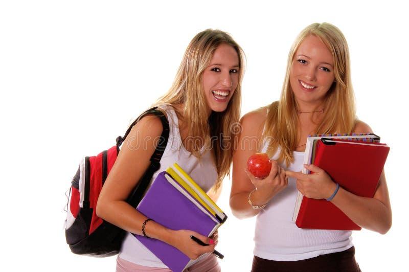 3个女孩高三学生 库存照片