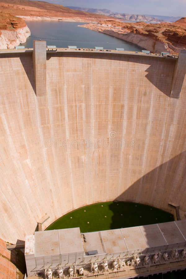3个峡谷水坝幽谷 库存图片