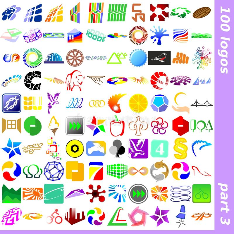3个徽标符号 向量例证