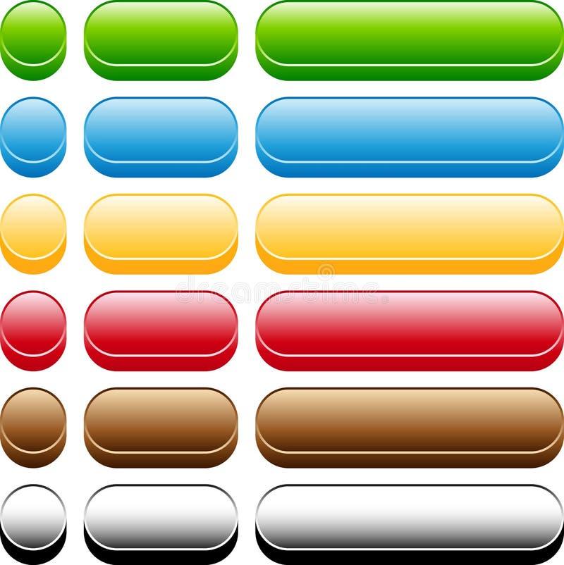 3个按钮集合样式 向量例证