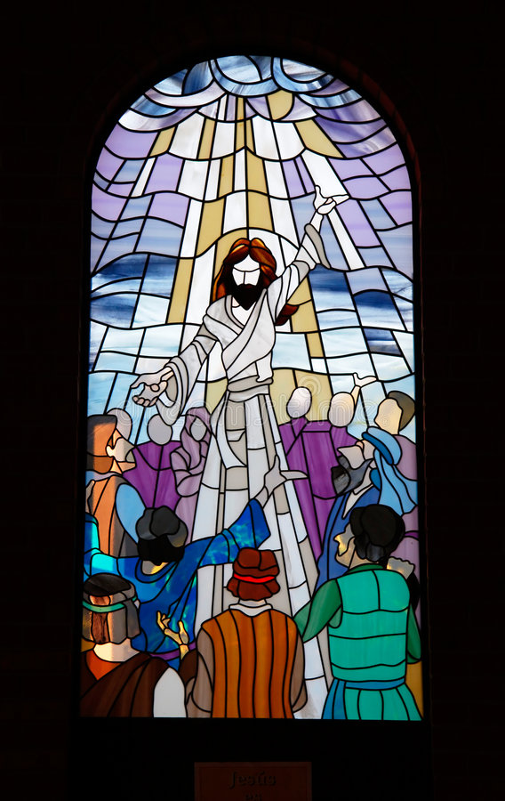 3个教会窗格视窗 库存图片